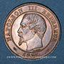 Coins 2e empire (1852-1870). 2 centimes, tête nue, 1855 MA. Marseille. Tête de chien