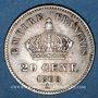 Coins 2e empire (1852-1870). 20 centimes tête laurée grand module 1868 A