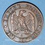 Coins 2e empire (1852-1870). 5 centimes tête laurée 1861 A