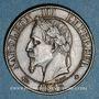 Coins 2e empire (1852-1870). 5 centimes tête laurée 1863 BB. Strasbourg