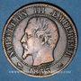 Coins 2e empire (1852-1870). 5 centimes tête nue 1853 B. Rouen
