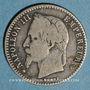 Coins 2e empire (1852-1870). 50 centimes tête laurée 1864 BB. Strasbourg