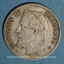 Coins 2e empire (1852-1870). 50 centimes tête laurée 1866 BB. Strasbourg