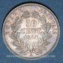 Coins 2e empire (1852-1870). 50 centimes tête nue 1854 A