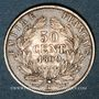 Coins 2e empire (1852-1870). 50 centimes tête nue 1860 A