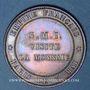 Coins 2e empire (1852-1870). Module de 10 centimes 1854. Visite de la Monnaie de Paris