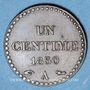 Coins 2e république (1848-1852). 1 centime 1850 A