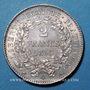 Coins 2e république (1848-1852). 2 francs Cérès 1850 A