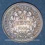 Coins 2e république (1848-1852). 20 centimes 1851 A