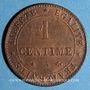 Coins 3e république (1870-1940). 1 centime Cérès 1872 A. Ancre