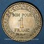 Coins 3e république (1870-1940). 1 franc Chambre de Commerce 1921