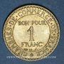Coins 3e république (1870-1940). 1 franc Chambre de Commerce 1922