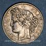 Coins 3e république (1870-1940). 2 francs Cérès 1887 A