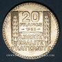 Coins 3e république (1870-1940). 20 francs Turin 1933. Rameaux longs