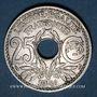 Coins 3e république (1870-1940). 25 centimes Lindauer, type souligné, 1916