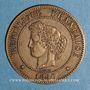 Coins 3e république (1870-1940). 5 centimes Cérès 1890 A