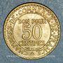 Coins 3e république (1870-1940). 50 centimes Chambre de commerce 1922