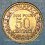 Coins 3e république (1870-1940). 50 centimes Chambre de commerce 1923