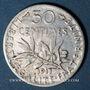Coins 3e république (1870-1940). 50 centimes Semeuse 1911