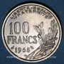 Coins 4e république (1947-1959). 100 francs Cochet 1958, chouette