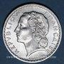 Coins 4e république (1947-1959). 5 francs Lavrillier aluminium 1949