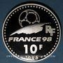 Coins 5e république (1959- ). 10 francs 1996. Coupe du Monde de Football, 1998 - Uruguay