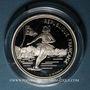 Coins 5e république (1959-). 100 francs 1989 J.O. Albertville 1992. Patinage artistique