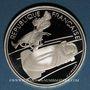 Coins 5e république (1959-). 100 francs 1990 J.O. Albertville 1992. Bobsleigh