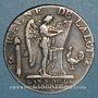 Coins Constitution (1791-1792). 1/2 écu de 3 livres type FRANCOIS 1793 A. 1er semestre
