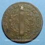 Coins Constitution (1791-1792). 2 sols 1792 BB. Strasbourg. Type FRANCAIS. Bronze