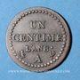 Coins Consulat (1799-1804). 1 centime an 8 A
