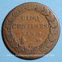 Coins Consulat (1799-1804). 5 centimes an 9 G. Genève