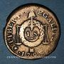 Coins Convention (1792-1795). Sol aux balances 1793MA. Marseille. Métal de cloche