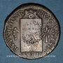 Coins Convention (1792-1795). Sol aux balances, type FRANCOISE 1793MA. Marseille. Différent tête en haut