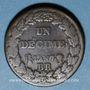 Coins Directoire (1795-1799). 1 décime an 7 BB. Strasbourg