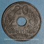 Coins Etat français (1940-1944). 20 centimes type 20 1943. Légère