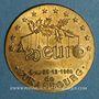 Coins Euros des Villes. Strasbourg. 1/20e euros 1996