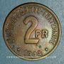 Coins France Libre (1940-1944). 2 francs 1944. Philadelphie