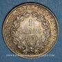 Coins Gouvernement de Défense Nationale (1870-1871). 1 franc Cérès 1871 K. Bordeaux