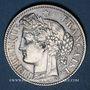 Coins Gouvernement de Défense Nationale (1870-1871). 2 francs Cérès avec légende 1871 K. Bordeaux. Petit K