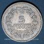 Coins Gouvernement provisoire (1944-1947). 5 francs Lavrillier aluminium 1946 C
