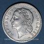 Coins Gouvernement provisoire (1944-1947). 5 francs Lavrillier aluminium 1946