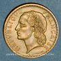 Coins Gouvernement provisoire (1944-1947). 5 francs Lavrillier bronze d'aluminium 1945 C