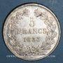 Coins Louis Philippe (1830-1848). 5 francs 1833 B. Rouen