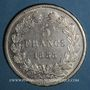 Coins Louis Philippe (1830-1848). 5 francs 1833 BB. Strasbourg