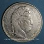 Coins Louis Philippe (1830-1848). 5 francs 1842 BB. Strasbourg