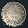 Coins Louis Philippe (1830-1848). 5 francs 1844 BB. Strasbourg