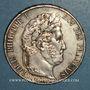 Coins Louis Philippe (1830-1848). 5 francs 1845 A. Proue de navire