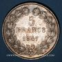 Coins Louis Philippe (1830-1848). 5 francs 1847 A