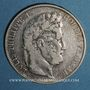 Coins Louis Philippe (1830-1848). 5 francs 1847 BB. Strasbourg